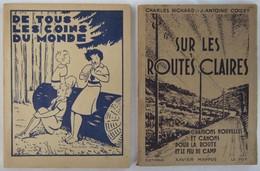 Lot 2 Recueils CHANTS SCOUTS Et ÉCLAIREUSES Années 40 - Scoutisme
