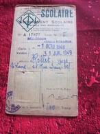1948/49 LYON BELLECOURT 3 RENARDS Titre De Transport  Lyonnais Tickets Plusieurs Voyages Omnibus-Tramway-Railway - Bus