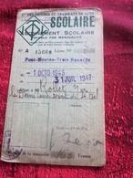 1946/47 LYON PONT-MOUTON 3 RENARDS Titre De Transport  Lyonnais Tickets Plusieurs Voyages Omnibus-Tramway-Railway - Bus