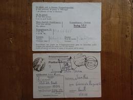 REGNO - Prigionieri Di Guerra - 2 Cartoline Provenienti Da Stalag III D58 E VI/J (Germania) + Spese Postali - 1900-44 Victor Emmanuel III.