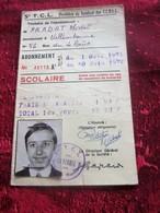 1971/72 VILLEURBANNE Titre De Transport  Lyonnais TCL Tickets Plusieurs Voyages Omnibus-Tramway- Railway VIGNETTES VERSO - Bus