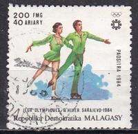 Madagascar, 1984 - 200fr Figure Skating - Nr.676 Usato° - Madagascar (1960-...)