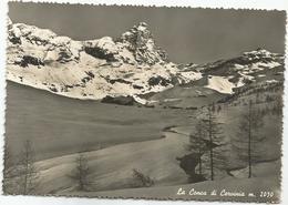 V4079 La Conca Di Cervinia (Aosta) - Panorama Invernare / Viaggiata 1954 - Italia