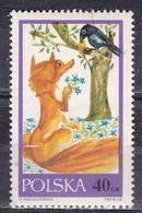 Polonia, 1968 - 40g The Fox And The Raven - Nr.1570 Usato° - 1944-.... Repubblica