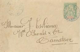 Entier Postal Sainte Marie De Madagascar - Madagascar - Santa Maria (1894-1898)