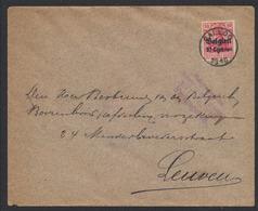 """Guerre 14-18 - OC3 Sur Lettre Obl Simple Cercle """"Calloo"""" (1916) + Censure De Antwerpen (4 Lignes) Vers Leuven. - [OC1/25] Gouv. Gén."""