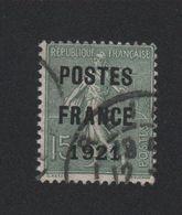 Faux Préoblitéré N° 34 15 C Semeuse Poste France 1921 - 1893-1947