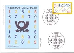 GERMANY NUE POSTLEITZAHLEN 1993 COVER   (FEB20779) - Post