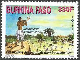 Burkina Faso 2013 Traditional Communication Elephant Tusk Hornblower Messenger Mint - Burkina Faso (1984-...)