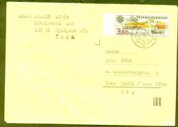 CZECHOSLOVAKIA KYNSPERK TO GERMANY BRUHL COVER 47402 SC# 2453 RETRO CAR - Other