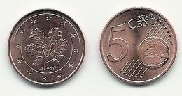 5 Cent, 2019, Prägestätte (A) Vz, Sehr Gut Erhaltene Umlaufmünze - Deutschland
