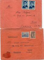 """ALBANIE : 3 LETTRES . DE """" TIRANA """" . POUR LA FRANCE . 1947 . - Albania"""