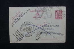 BELGIQUE - Entier Postal De Liege Pour Sarreguemines Avec Contrôle Postal Et Retour En 1939 - L 52994 - Entiers Postaux