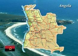 Angola Country Map New Postcard Landkarte AK - Angola