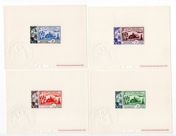 !!! PRIX FIXE : 10E ANNIV DE LA LIBERATION, SERIE COMPLETE DES 12 EPREUVES DE LUXE - COTE 825 € - 3 SCANS - 1954 10e Anniversaire De La Libération
