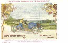"""Les Grandes Victoires Du """"Pneu Michelin"""" COUPE GORDON BENNET 1901 GIRARDOT Sur PANHARD RV - Pubblicitari"""