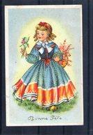 Carte Illustrée. Fillette En Belle Robe Et Ses Fleurs - Szenen & Landschaften
