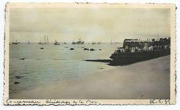 D053 Photo Vintage Originale Tinted Colorisé Concarneau Bretagne Plage Beach - Luoghi
