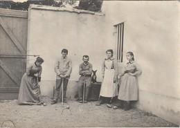 Photo Vers 1900 Jeu De Croquet, Chien (A219, Ww1, Wk 1) - Photos