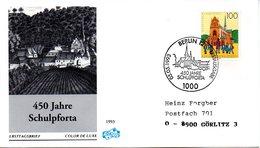 "BRD Schmuck-FDC ""450 Jahre Landesschule Pforta"" Mi.1675 ESSt 5.5.1993 BERLIN 12 - FDC: Buste"