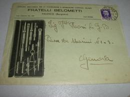 BUSTA FRATELLI BELOMETTI PALOSCO BERGAMO 1940 - Non Classificati