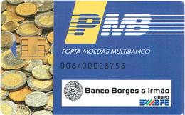 PHONECARDS-- PORTUGAL-- PORTA- MOEDAS MULTIBANCO  ( PURSE )  - BANCO BORGES & IRMÃO - Portugal
