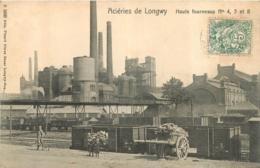 ACIERIES DE LONGWY HAUTS FOURNEAUX N°4  5  ET 8 - Longwy