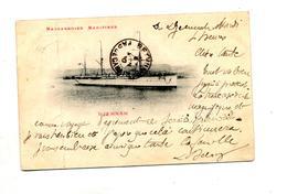 Carte Cargo Djemnah Cachet Matitime Marseille à Reunion Timbre Oté - Bateaux