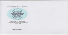 Bénin 2019 Mi. ? Joint Issue Emission Commune ICAO OACI Cotonou Map Civil Aviation Civile FDC - Bénin – Dahomey (1960-...)