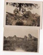 78  COIGNERES  SOLDAT  CHARGEUR AU FUSIL MITRAILLEUR 1915   PETITE PHOTO 1928  VOIR LEGENDE AU DOS - Guerre, Militaire