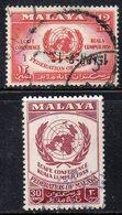 Y363 - MALAYA Federation 1958, Yvert N. 85/86  Usata  (2380A) - Federation Of Malaya