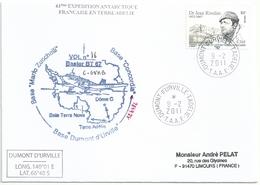 YT 557 Dr Rivolier - Transport à Avion Basler BT 67 - Dumont D'Urville - Terre Adélie - 09/02/2011 - Lettres & Documents