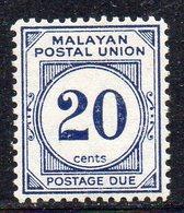 Y437 - MALAYA Federation 1957, Segnatasse Yvert N. 23 ***  MNH (2380A) - Federation Of Malaya