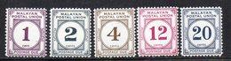 Y464 - MALAYA Federation 1964, Segnatasse Yvert N. 24/29 (manca Solo Il N. 27) ***  MNH (2380A) - Federation Of Malaya