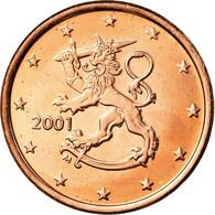 Finlande, 5 Euro Cent, 2001, TTB+, Copper Plated Steel, KM:100 - Finlande