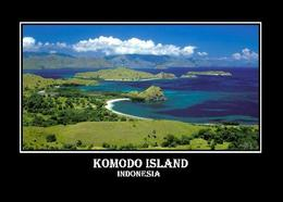 Indonesia Komodo Island Overview UNESCO New Postcard Indonesien AK - Indonésie