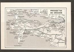 CARTE PLAN 1972 - BRETAGNE - PRESQU'ILE De CROZON - MORGAT ROSCANVEL LE FAOU LANVÉOC LANDÉVENNEC - Carte Topografiche