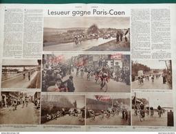 1937 CYCLISME - PARIS = CAEN - ECQUEVILLY - MANTES - LISIEUX.- PONT SUR COUDRAY - MATCH L'INTRAN - Newspapers