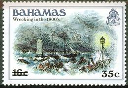 Bahamas 1981 Wrecking In The 1800's,overprint Scott 534 MNH Michel 534-37 - Leuchttürme