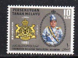Y711 - KELANTAN MALAYSIA  1961,  Yvert N. 89  ***  MNH (2380A) - Kelantan