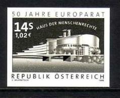 ÖSTERREICH MI-NR. 2280 POSTFRISCH(MINT) Schwarzdruck 50 JAHRE EUROPARAT - Europäischer Gedanke