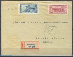 Tchécoslovaquie Lettre Récommandé, Pd - Czechoslovakia