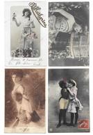 Fantaisies Gros Lot De 2000 CPA/Femmes/Enfants/Couples/Fètes... - 5 - 99 Postcards