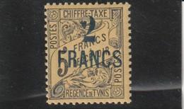 TUNISIE Timbre Taxe Surchargé N° 36 * - Tunisia (1888-1955)