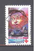 France Autoadhésif Oblitéré N°1728 (Au Profit De La Croix-Rouge) (cachet Rond) - Oblitérés