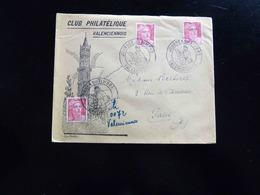 CACHET COMMEMORATIF  -  JOURNEE DU TIMBRE  VALENCIENNES  1946  AVEC VIGNETTE - Commemorative Postmarks