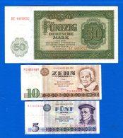 Ddr  3  Billets - [ 6] 1949-1990 : RDA - Rep. Dem. Tedesca