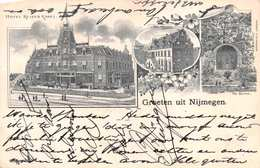 NIJMEGEN - HOTEL KEIZER KAREL - POSTED IN 1899 ~ AN EARLY 1890's -1901 VINTAGE POSTCARD  #21346 - Nijmegen