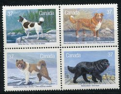 CANADA 1988 CHIENS DU CANADA NEUF MNH** MINT LUXE ** - 1952-.... Reign Of Elizabeth II