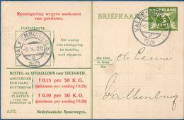 Netherlands 1929 Nederlandse Spoorwegen Kennisgeving Kaart Lebeau 3 C.  Valkenburg-2, 5 X.1929 Bier, - 2006.1302 - 1891-1948 (Wilhelmine)